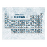 Periodic Table of Texting (Blue) Postcards
