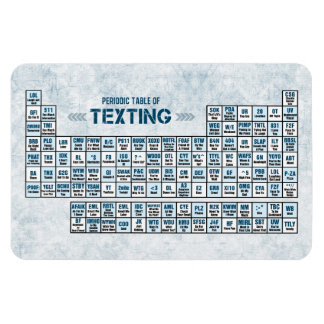 Periodic Table of Texting (Blue) Rectangular Photo Magnet