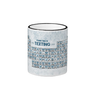 Periodic Table of Texting (Blue) Ringer Mug