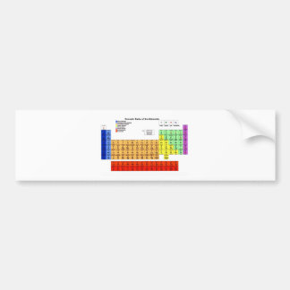 Periodic Table of the Elements Car Bumper Sticker