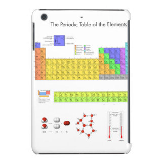 Periodic Table of the Elements Poster Science iPad Mini Retina Cases