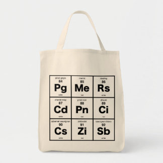 Periodic Table of Wines Tote Bag