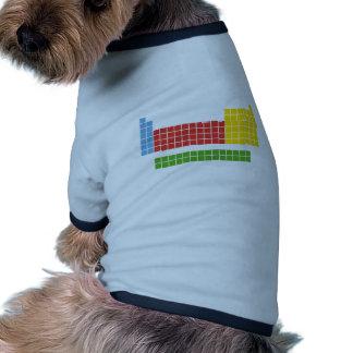 Periodic table ringer dog shirt
