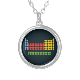 Periodic table round pendant necklace