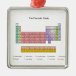 Periodic Table Silver-Colored Square Decoration
