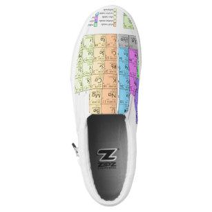 Periodic table shoes zazzle periodic table slip on shoes urtaz Choice Image