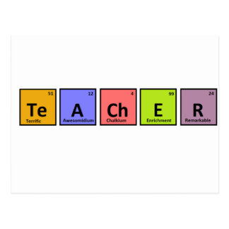 Periodic Table Teacher Appreciation Postcard