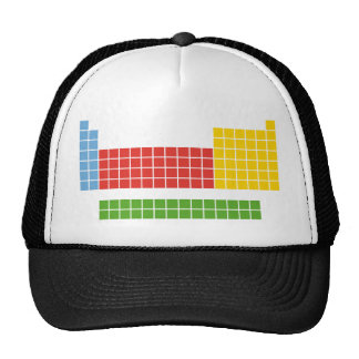 Periodic table trucker hats