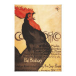 Periodical Cocorico Rooster Promotional Poster Stretched Canvas Print