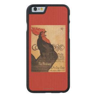 Periodical Cocorico Rooster Promotional Poster Carved® Maple iPhone 6 Case