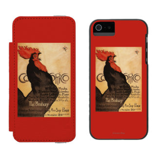 Periodical Cocorico Rooster Promotional Poster Incipio Watson™ iPhone 5 Wallet Case
