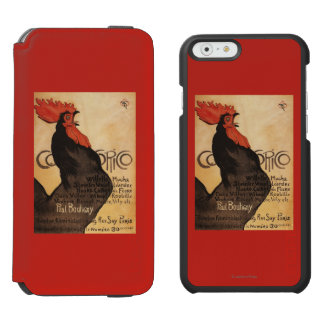 Periodical Cocorico Rooster Promotional Poster Incipio Watson™ iPhone 6 Wallet Case