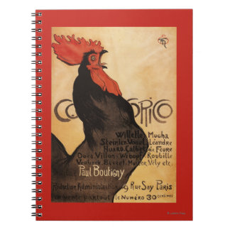 Periodical Cocorico Rooster Promotional Poster Notebooks
