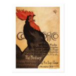Periodical Cocorico Rooster Promotional Poster Postcard