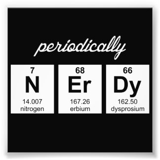 Periodically Nerdy Element Symbols Photo Print