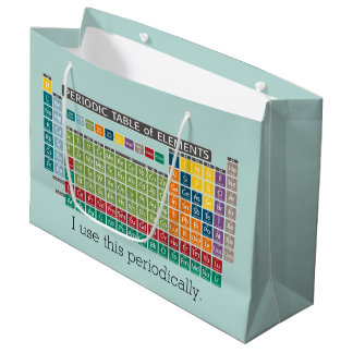 Periodically Periodic Table of Elements Large Gift Bag