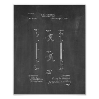 Periodontal Curette - Dental Excavator Patent - Ch Poster