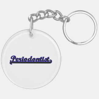 Periodontist Classic Job Design Double-Sided Round Acrylic Key Ring