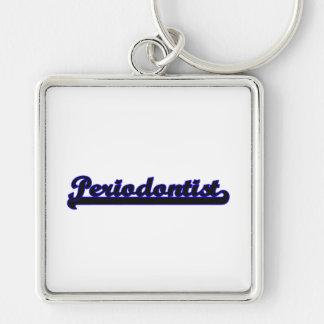 Periodontist Classic Job Design Silver-Colored Square Key Ring