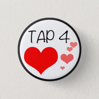 PERISCOPE Tap for Hearts Pin