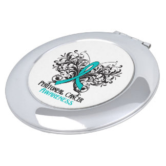 Peritoneal Cancer Awareness Butterfly Mirrors For Makeup