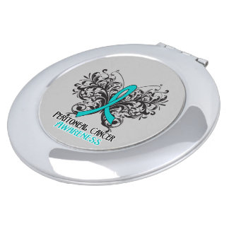Peritoneal Cancer Awareness Butterfly Travel Mirrors