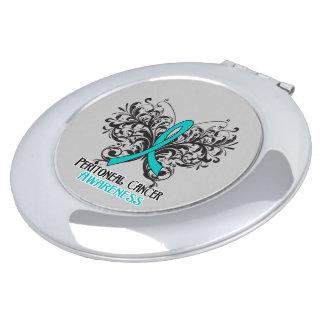 Peritoneal Cancer Awareness Butterfly Makeup Mirror