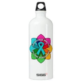 Peritoneal Cancer Awareness Matters Petals SIGG Traveller 1.0L Water Bottle