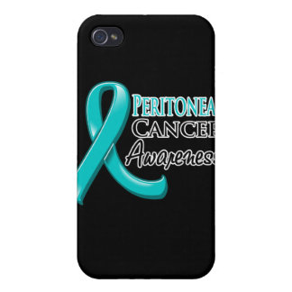 Peritoneal Cancer Awareness Ribbon iPhone 4 Cover