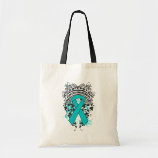 Peritoneal Cancer - Cool Support Awareness Slogan Canvas Bags