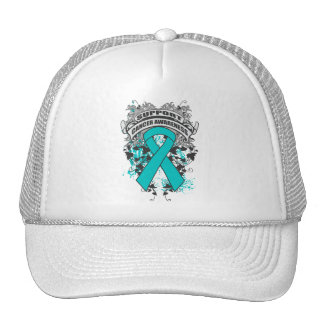 Peritoneal Cancer - Cool Support Awareness Slogan Hat