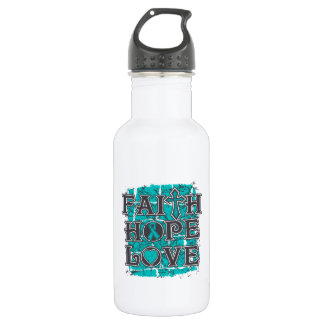 Peritoneal Cancer Faith Hope Love 532 Ml Water Bottle