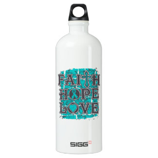 Peritoneal Cancer Faith Hope Love SIGG Traveller 1.0L Water Bottle