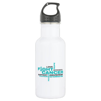 Peritoneal Cancer Fight Collage 532 Ml Water Bottle