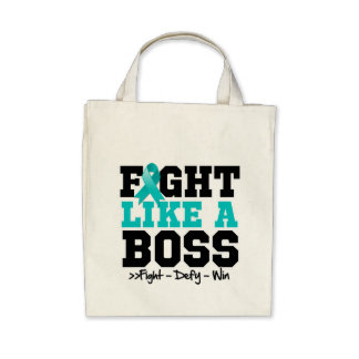 Peritoneal Cancer Fight Like a Boss Tote Bag