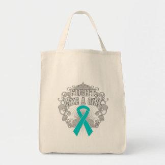 Peritoneal Cancer Fight Like A Girl Fleurish Bag