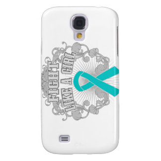 Peritoneal Cancer Fight Like A Girl Fleurish Samsung Galaxy S4 Covers