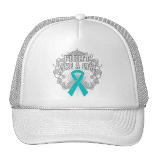 Peritoneal Cancer Fight Like A Girl Fleurish Mesh Hats