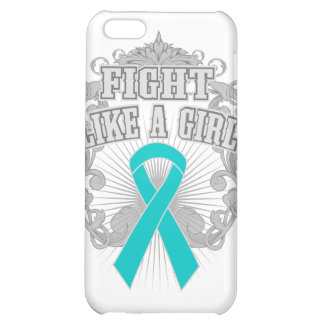 Peritoneal Cancer Fight Like A Girl Fleurish iPhone 5C Cases