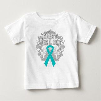 Peritoneal Cancer Fight Like A Girl Fleurish Shirt