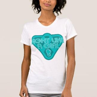 Peritoneal Cancer Fight Like A Girl Glove Tshirt
