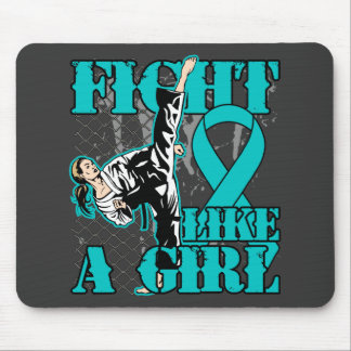 Peritoneal Cancer Fight Like A Girl Kick Mouse Pad