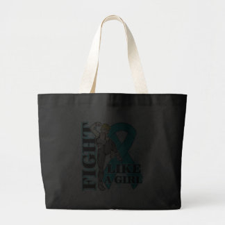 Peritoneal Cancer Fight Like A Girl Kickin Butt Tote Bags