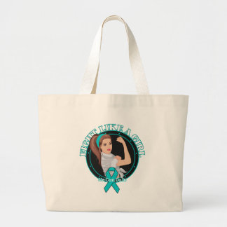 Peritoneal Cancer Fight Like A Girl Modern Rosie Tote Bags