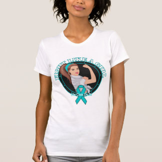 Peritoneal Cancer Fight Like A Girl Modern Rosie Tshirts