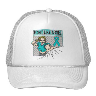 Peritoneal Cancer Fight Like A Girl Punch Trucker Hats