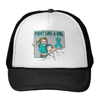 Peritoneal Cancer Fight Like A Girl Punch Trucker Hat