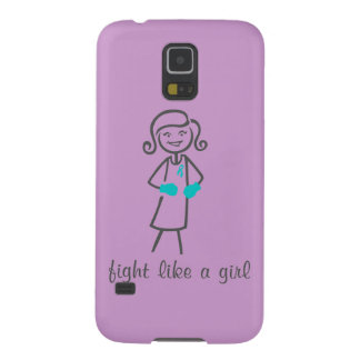 Peritoneal Cancer Fight Like A Girl (Retro) Galaxy S5 Covers