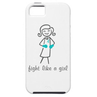 Peritoneal Cancer Fight Like A Girl (Retro) iPhone 5 Covers