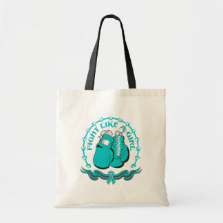 Peritoneal Cancer Fight Like A Girl Sporty Canvas Bags